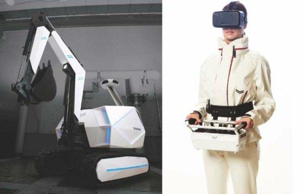 Концепт беспилотного экскаватора от компании Yanmar фото