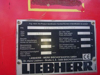 БУ Фронтальные погрузчики Liebherr L544